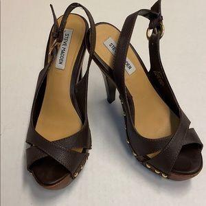 Steve Madden Brown Leather Heels